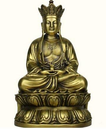 Tibete Кобр бронзовые де kshitigarbha дзидзо Rei монжа Буда сидеть латунь изобразительных искусств ремесла украшения