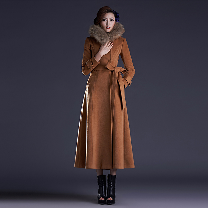 Popular Long Wool Coat-Buy Cheap Long Wool Coat lots from China ...