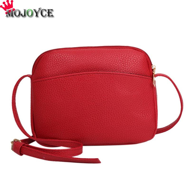Women PU Leather Messenger Handbags Shell Shoulder Crossbody Bag Solid Small Bags for Women 2020 Sac a Main Ladies Hand Bag 5