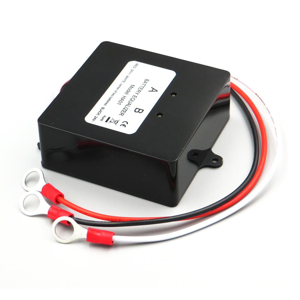 HA01 Batteries Voltage Equalizer balancer for 2 x 12V Lead Acid Battery charger Regulators Connected in