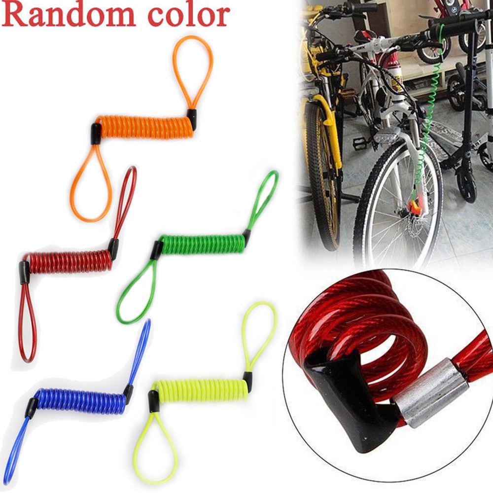Motorcycle Bike Scooter Alarm Disc Lock Security Spring Reminder Cable Strong Acts As A Highly Visual Theft Deterrent dropship
