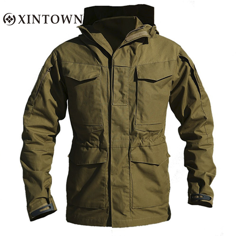 M65 Tactical Windbreaker Men Winter Autumn Waterproof Flight Pilot Coat Hoodie UK US Military Field Jacket Army Clothes lurker shark skin soft shell v4 military tactical jacket men waterproof windproof warm coat camouflage hooded camo army clothing