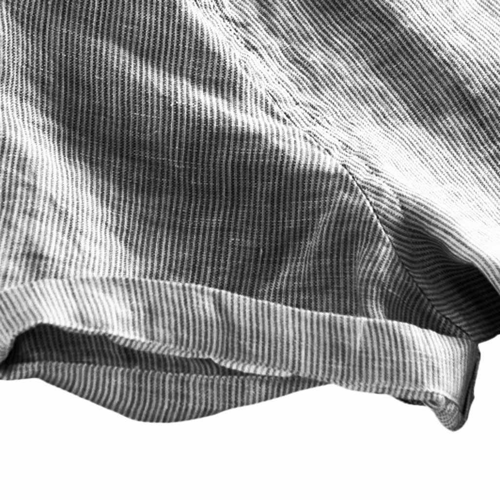 2019 新メンズカジュアルコットンシャツ男性マンダリン襟セクシーな V ネックコットンリネンシャツは夏の半袖亜麻シャツ 3XL