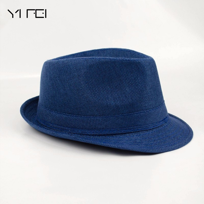9ddd674c96e 2018 Brand New Fashion Floppy Jazz Hat Pure Men Women's Large Brim Caps  England Classic Style