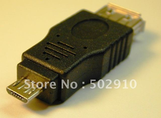 WHOLESALE 100pcs/lot USB 2.0 A Female to Micro 5 Pin Male Adapter Connector F/M,Tablet PC connector