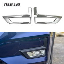 NULLA ABS Chrome Exterior Front Rear Fog Lamp Light Cover Frame Trim For Nissan Xtrail X-Trail X Trail Rogue 2017 Accessories