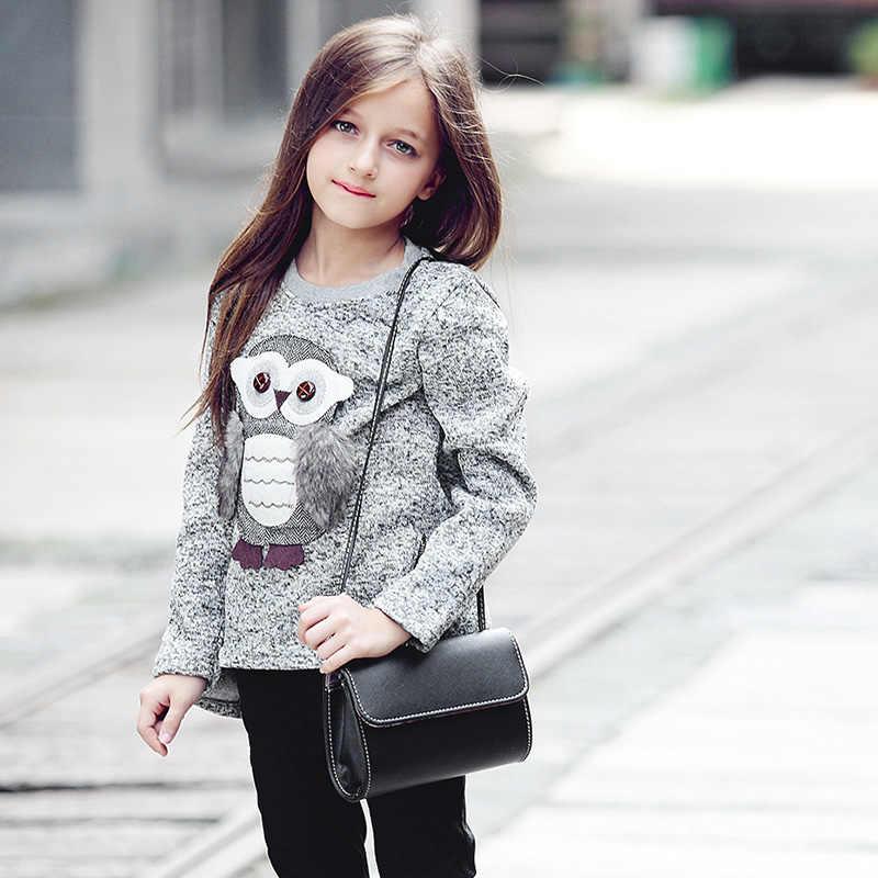 Suéter para niñas y niños pequeños suéteres Girsl pulóver para invierno otoño 2018 ropa lindo búho cálido polar forrado con cremallera