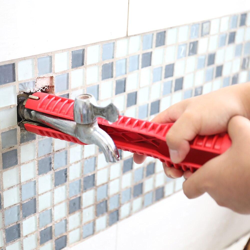 Многофункциональный водопроводный ключ с двойным концом, плоскогубцы для раковины, инструмент для установки и обслуживания раковины в ванной Гаечный ключ      АлиЭкспресс