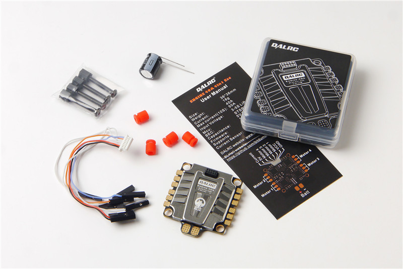 DALRC ENGING 40A Brushless ESC 3-5S Blheli_32 4 in 1 ESC DSHOT1200 Ready w/ 5V BEC for RC Racing Drone Quadcopter 30a esc welding plug brushless electric speed control 4v 16v voltage