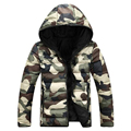 2016 New Style Men's Winter hooded Jacket Military Camouflage Size S-3X
