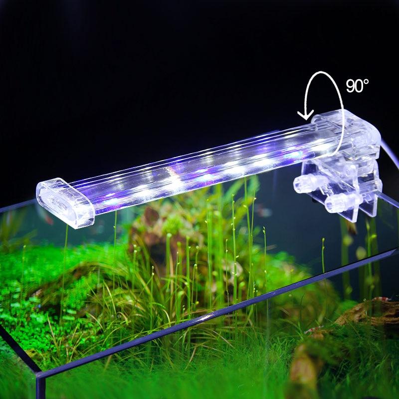 Crystal LED Aquarium Lampu Klip