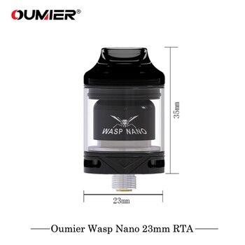 Oumier Wasp Nano – atomiseur à bobine unique, 23mm RTA, embout de vapoteur anti-goutte PCTG, VS Oumier WASP NANO RDTA Geekvape RTA