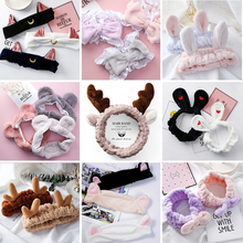 New Fashion Women Cute Big Ears Antler Comfortable Wash Face Bathe Hair Holder Elastic Headband Girls Hairbands Accessories