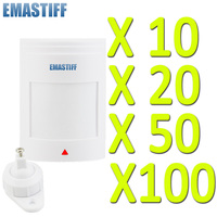 Wholesale 10 20 50 100 Pcs Lot Wall Mounting Wired PIR Motion Infrared Sensor Detector For