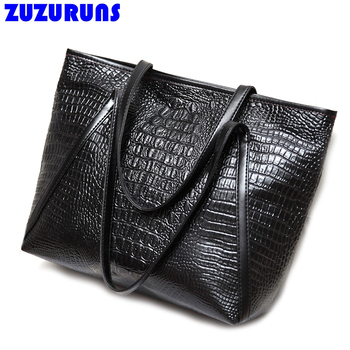 de44669443a Fashion Crocodile PU Leather Large Capacity Handbags Big Casual Tote Bags  for Women Crossbody Shoulder Messenger