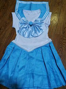Image 4 - セーラームーンのアニメコスプレセーラー水銀/水野亜美ユニセックス原宿ハロウィーンパーティーコスプレ衣装カスタマイズすることができます