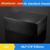 AMP CASE 482*178*320mm 19 inches 4U standard chassis Instrumentation aluminum shell Network communication cabinets Aluminum case