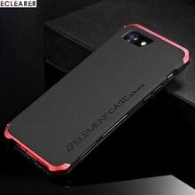 Роскошные противоударный Броня металлический элемент чехол для iPhone 8 Plus чехлы Hard Coque Алюминий и ПК чехол для iPhone 8 7 Plus задняя крышка