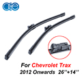 OGE Professional Pair Windscreen Wiper Blades For Chevrolet Trax 2012 Onwards 26''+14'' Natural Rubber Car Accessories