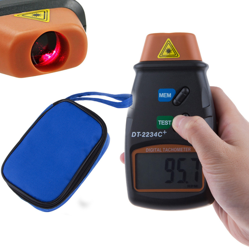 Free Shipping Non-contact Digital Laser Tachometer RPM Meter DT2234C tester Speed dt2234c digital laser rpm tachometer non contact measurement tool