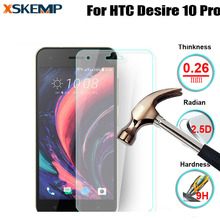 For HTC Desire 10 Pro No Fingerprint 0.26mm 9H Transparent Scratch-Resistant Glossy Tempered Glass Film Premium Screen Protector