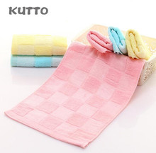 Kutto Pure cotton bamboo fiber blended childrens towel square soft water absorbent face 25*50cm