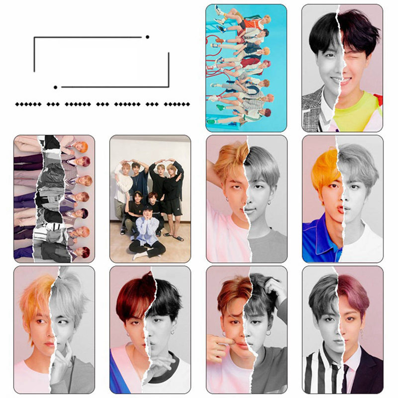 Calendars, Planners & Cards Dutiful Kpop Bts Love Yourself Tear Hd Crystal Photo Cards Sticker Jung Kook Suga V Sticky Photocard Poster 10pcs/set Great Varieties Business Cards