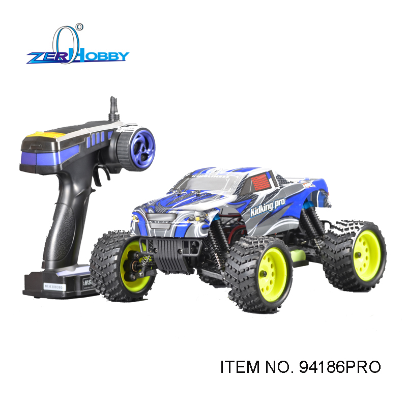 HSP RACING RC CAR TOYS KIDKING PRO 1/16 BRUSHLESS MONSTER TRUCK 4WD OFF ROAD RTR R/C CAR (item no. 94186PRO) 03007 motor mount rc hsp 1 10th on road drift off road car buggy monster truck rc car parts child toys