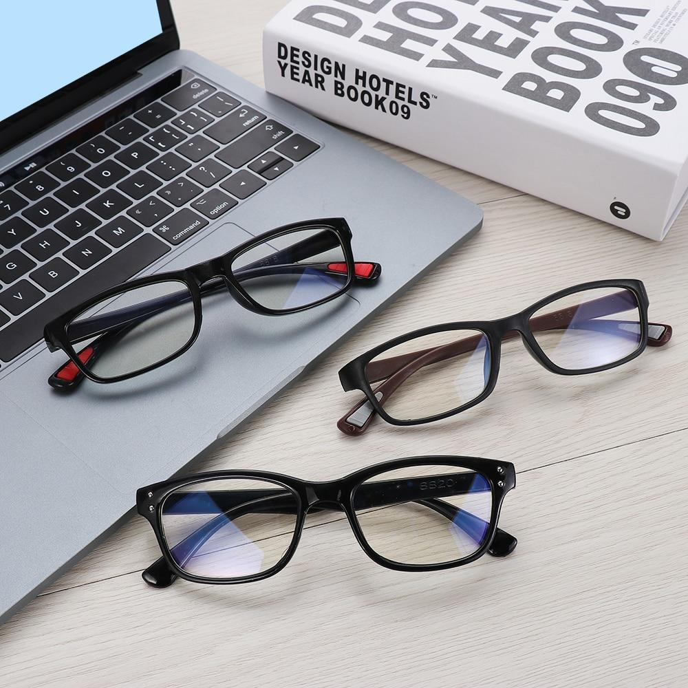 High Quality PC Unisex Anti Blue Rays Computer Glasses Eyes Radiation Protection Goggles Anti-UV Flat Mirror Reading Eyeglasses(China)