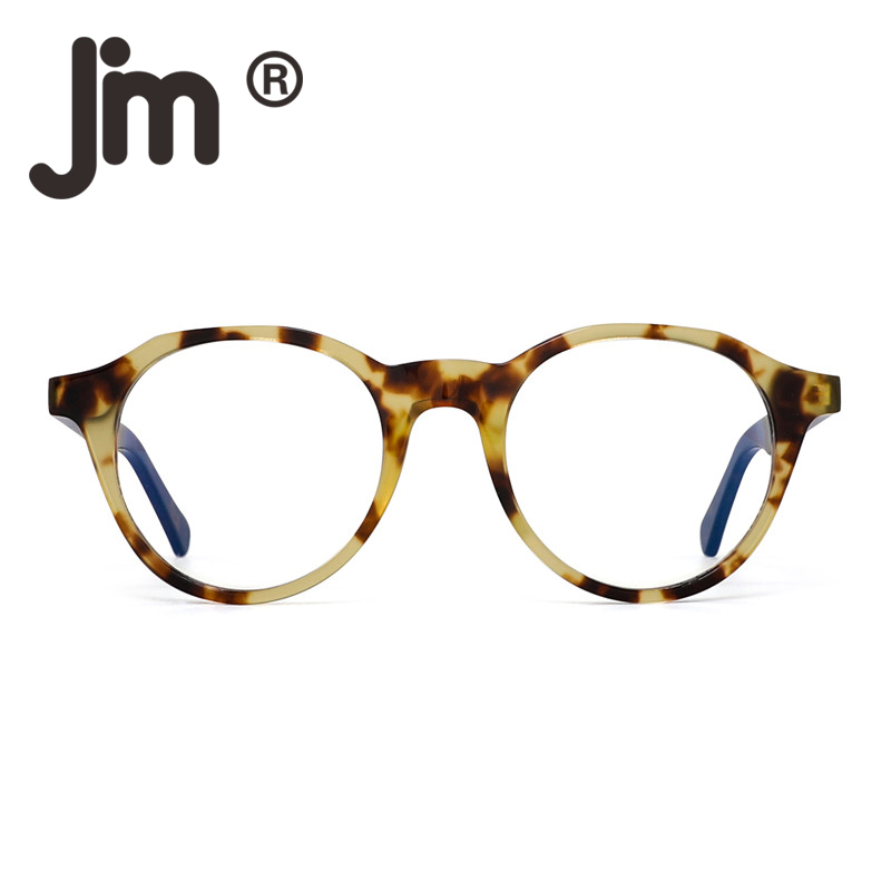 JM Anti Blue Light Retro Round Spring Hinge Computer Glasses Reduce Eye Fatigue For Men Women