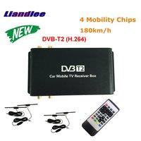 Liandlee HD 1080 P DVB T2 (H.264) 4 тюнер цифрового автомобиля ТВ приемник D ТВ мобильный ТВ Box антенна MPEG 4/модель DVB T2 M 688 H264