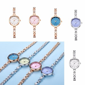 Image 5 - KIMIO Brand Small Dial Quartz Watches For Women Ladies Stainless Steel Hollow Thin Bracelet Watch Delicate Crystal Wristwatch