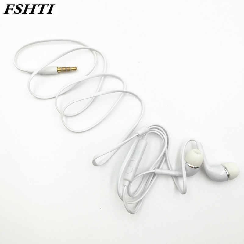 3.5mm Stereo słuchawki przenośne z redukcją szumów słuchawki przewodowe słuchawki słuchawka douszna z mikrofonem dla Xiaomi Samsung
