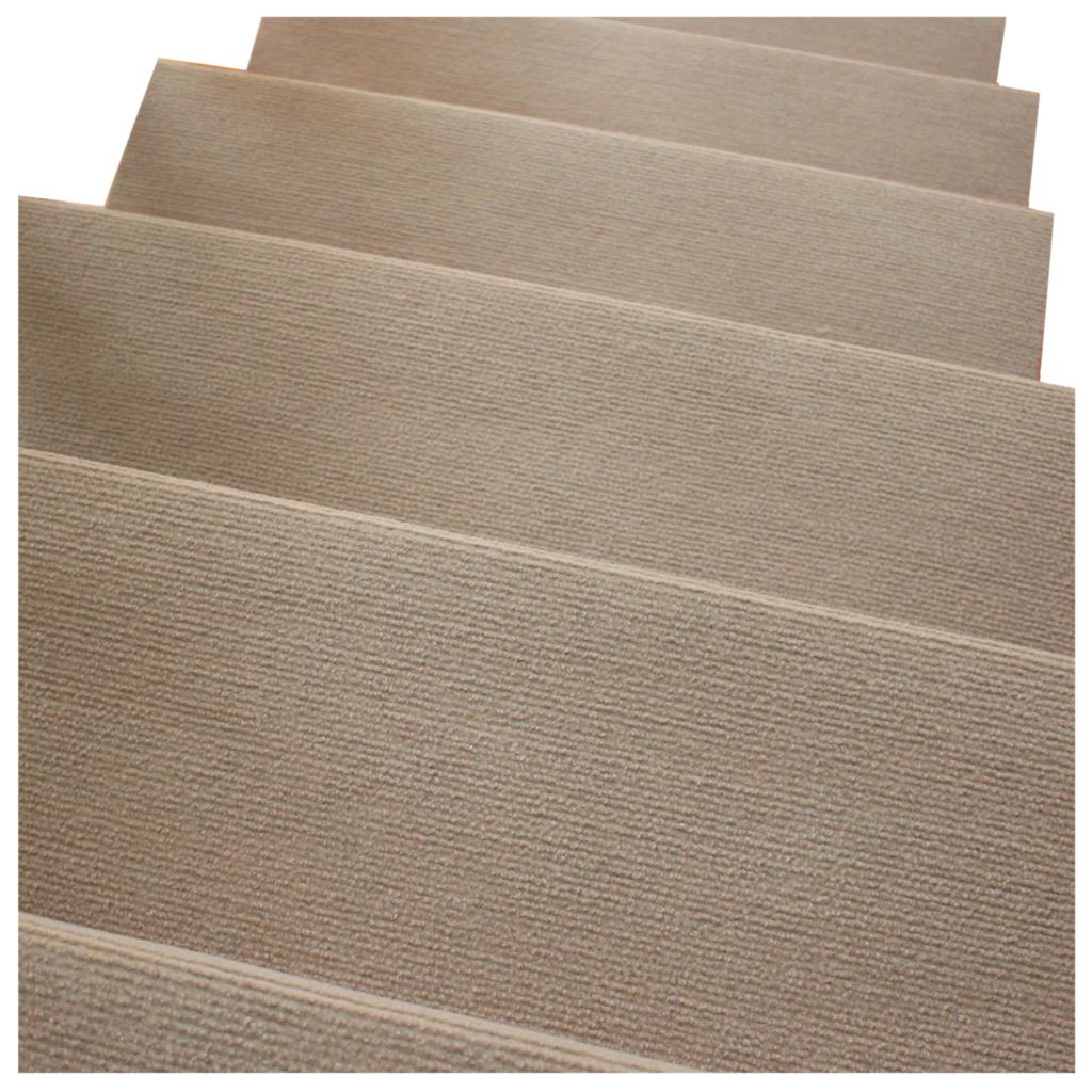 HOT SALE Morden Khaki Nonslip Carpet Stair Treads Mats Staircase Step Rug Protection Cover - 65X24cm