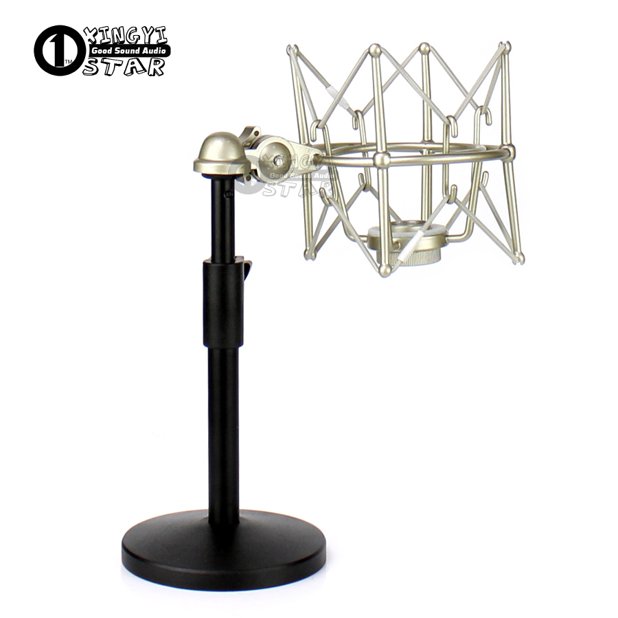 Metal Shock Mount Microphone Spider Mic Shockmount Desktio Stand For RODE Broadcaster NT1 NT2 NT1000 NT2000 K2 NTK NTR Podcaster nt2 140