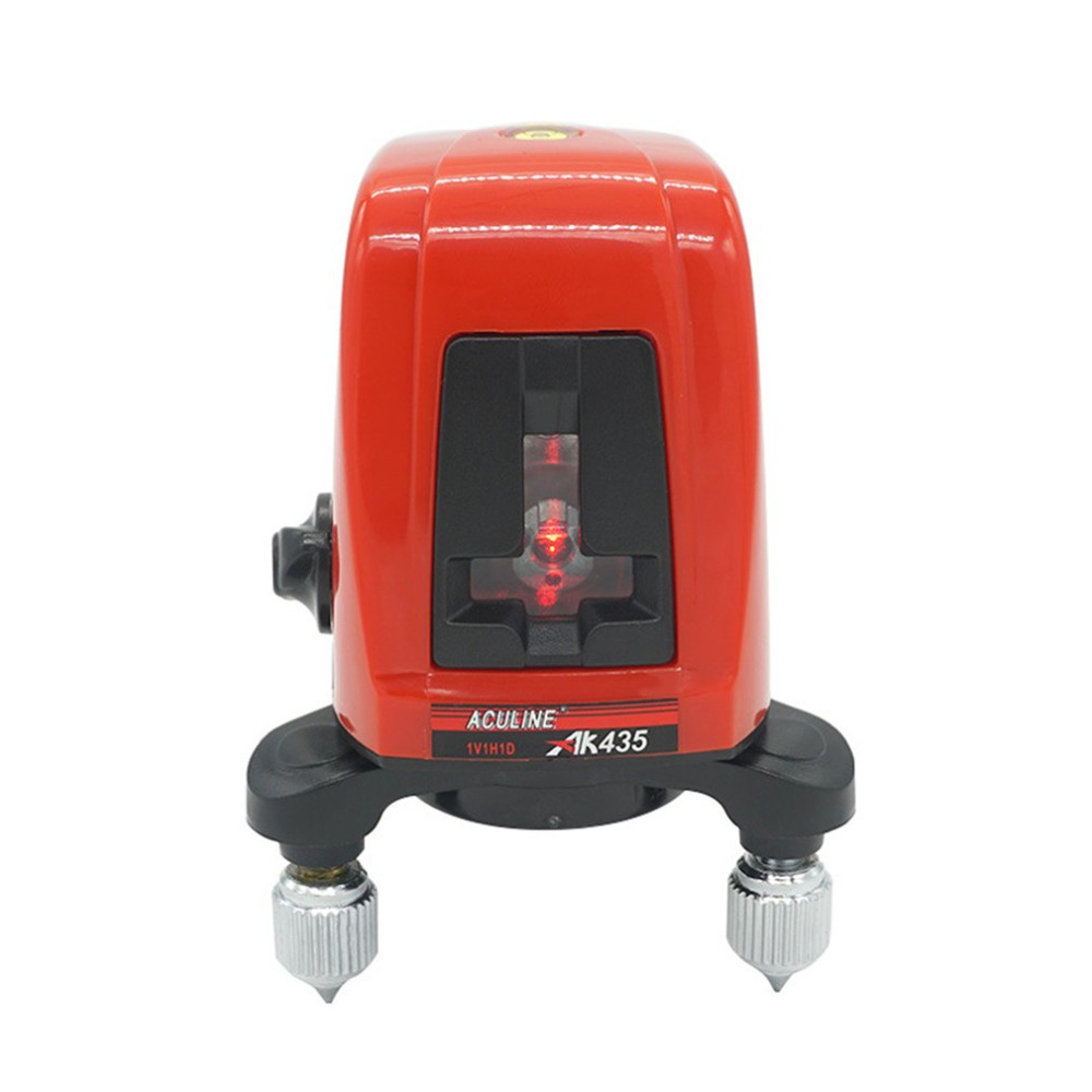 AK435 360 Degree Self-leveling Cross Laser Level 2 Red Lines 1 Point Compatible Rotary Horizontal Vertical Laser Levels Meter xeast xe 17a new 3d red laser level 8 lines tilt mode self leveling meter 360 degree rotary cross red beam