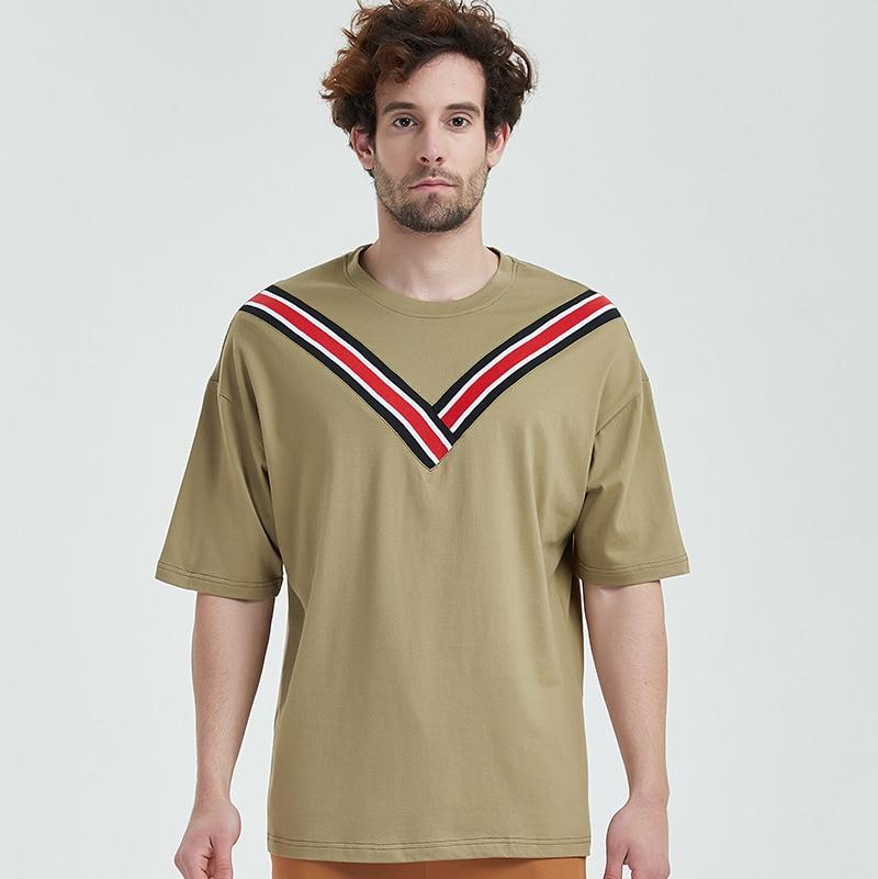 T-shirt V type cotton fabric men