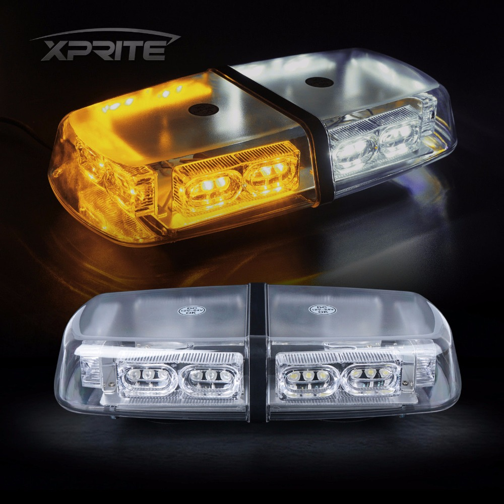 36 LED 36W Roof Top Strobe Light Bar Emergency Hazard Flash White Amber Warning Lamp Yellow Flashing