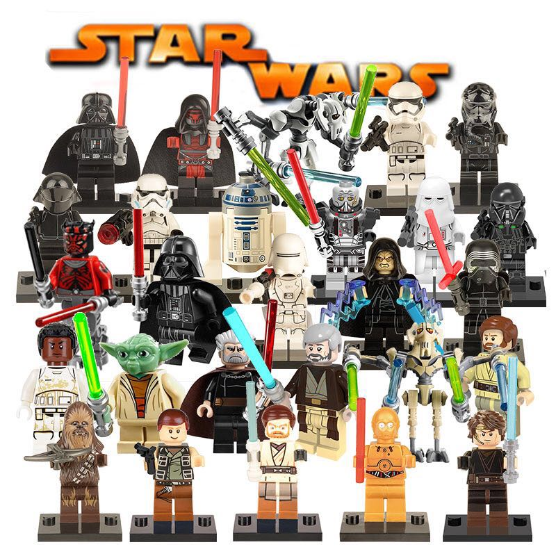 Star Wars The Last Jedi Yoda Obi-Wan Darth Vader Storm Building Block Compatible with LegoINGlys Starwars Kids Action Figure Toy ...