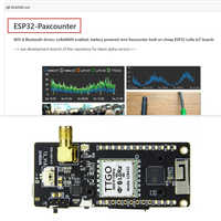 TTGO ESP32-Paxcounter LoRa32 V2.1 Versión 1,6/433/868/915 MHZ LoRa ESP-32 OLED 0,96 tarjeta SD en pulgadas WIFI Bluetooth módulo SMA