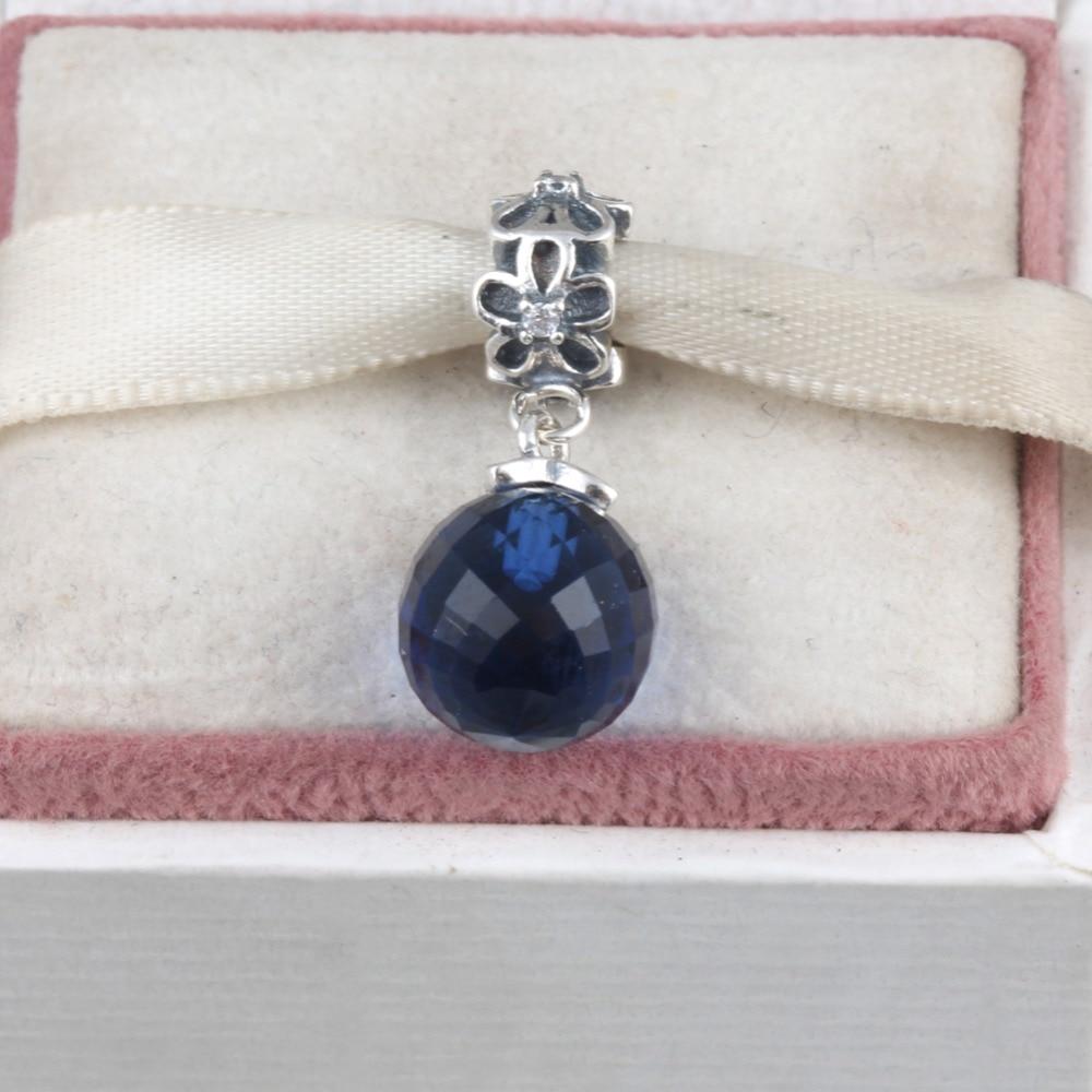 ZMZY 925 Sterling Silver Charms Beads Midnight Blue Moon And Star Pendants Fit Original Pandora Bracelet Pendant Jewelry
