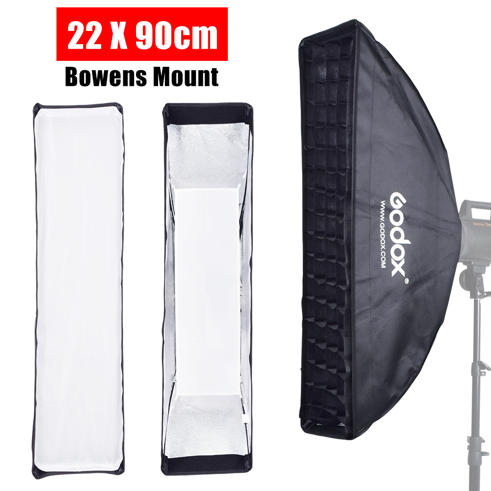 Godox Strip Beehive Softbox 22x90cm 9x 35 w/ Honeycomb Grid Bowens Elinchrom Balcar Hensel Broncolor Multiblitz Comet Mount