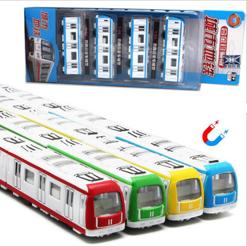 1:64 scale magnetic alloy toys,pull back subway rail car models,die-casting metal model toys, children's gifts,free shipping