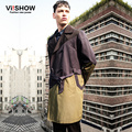 Viishow  2016 new arrivel spring trench coats men long coats windproof jacket