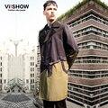 Viishow 2016 nuevo arrivel primavera trench coats hombres largos abrigos chaqueta a prueba de viento