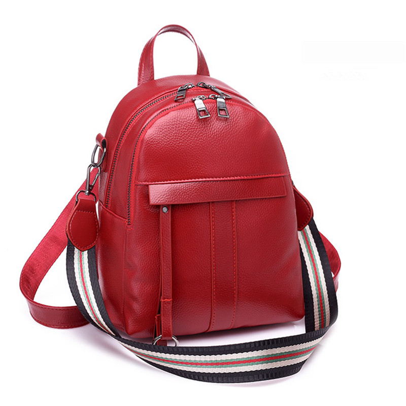 Preppy Style Mini Women Backpack Leather Lady Fashion Backbags Cute Red  School Bags Backpacks For Teenager Girls Black Daypack-in Backpacks from  Luggage ... dd4449f5a4e51