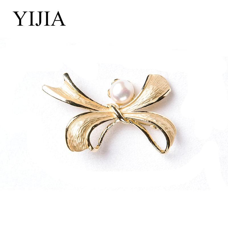 YIJIA Pearl brossok ezüstből készült 925 édesvízi gyöngyház - Finom ékszerek