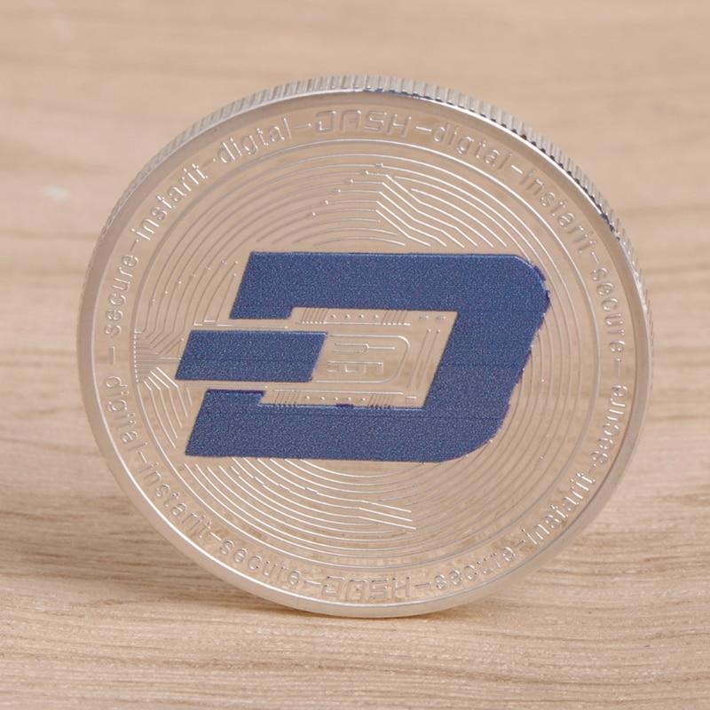 Commemorative Coin Dash Gold Silver Collection Gift Souvenir Crafts Arts Bitcoin