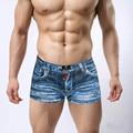 Fashion 3D print plus size Men's underwear cotton boxer shorts fashion cowboy shorts print underpants man panties