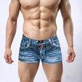 Moda 3D impressão plus size dos homens cueca boxer shorts de algodão moda cowboy calções impressão cueca homem cueca